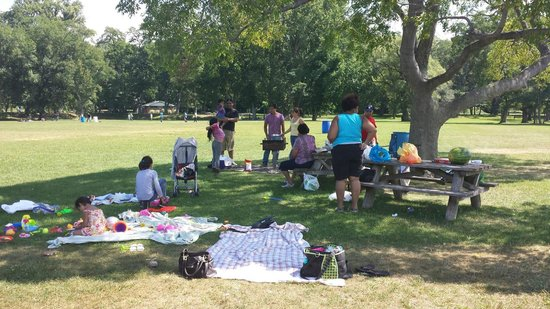 Croton Point Park : Tables and grill