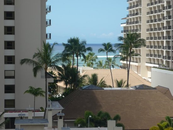 Wyndham at Waikiki Beach Walk : View from our room.....