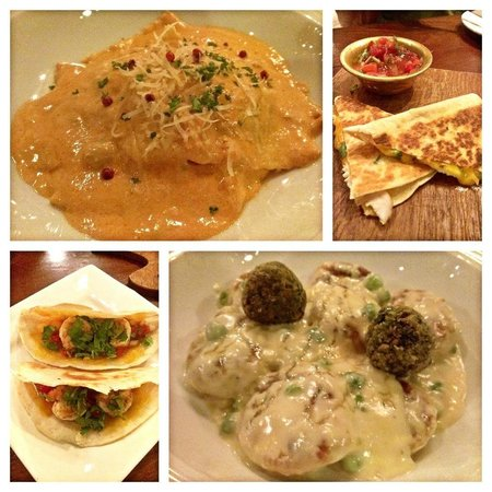 Seven Spoons Bar and Restaurant: quesedillas, taco, gnocci and fish