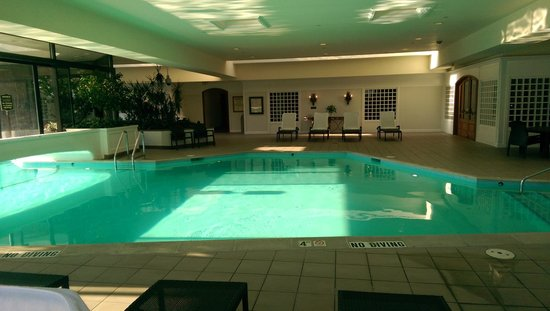 Out door pool in hotel another one downstairs picture for Indoor pools in utah