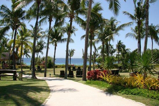 Shangri-La's Mactan Resort & Spa : walk way towards the beach