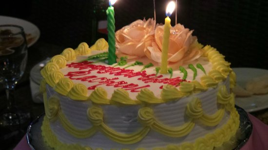 birthday cake from Hotel - Picture of Legian Paradiso Hotel, Kuta ...