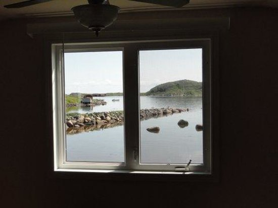 Whaling Station Cabins: View from bedroom in Strand House