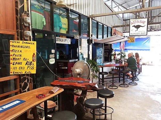 Aussie Burger & Sports Bar: Outside.