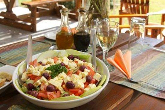 Safari Ostrich Show Farm: Salad starter of 3-course lunch #Safari Ostrich Farm