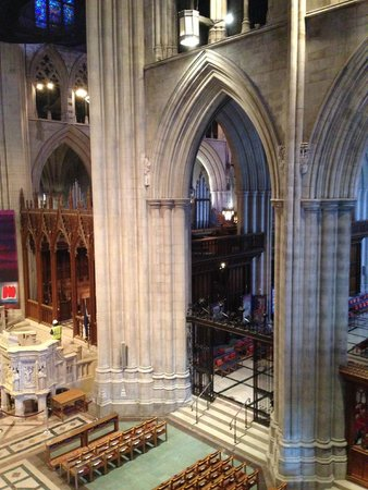 Washington National Cathedral: Behind the Scene tour - view from upper level