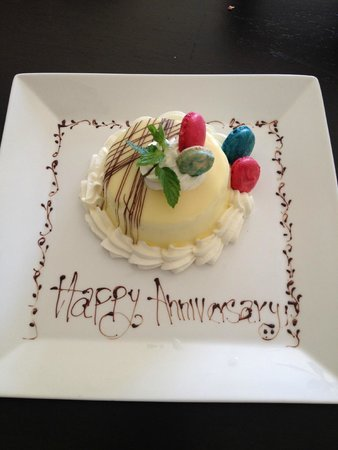 Pueblo Bonito Pacifica Golf & Spa Resort: Tres Leche Cake just for us delivered to the Spa VIP Room