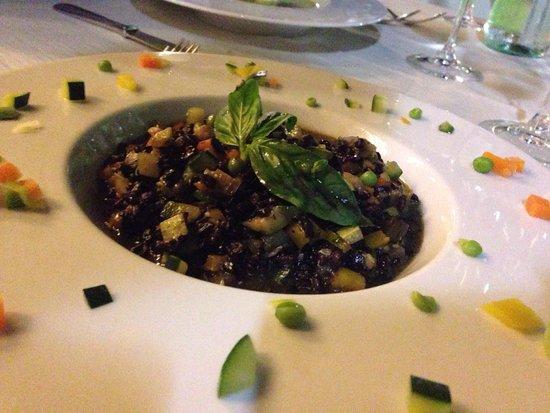 Aquadulci Hotel: Riso Venere con verdure