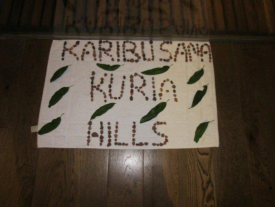 Lemala Kuria Hills Lodge : Message from house keeper