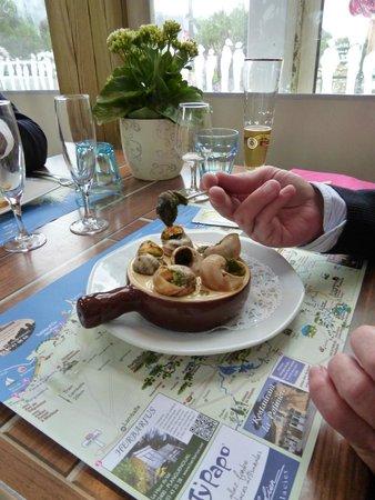 La Potiniere - Sables d'or Pins : Escargots