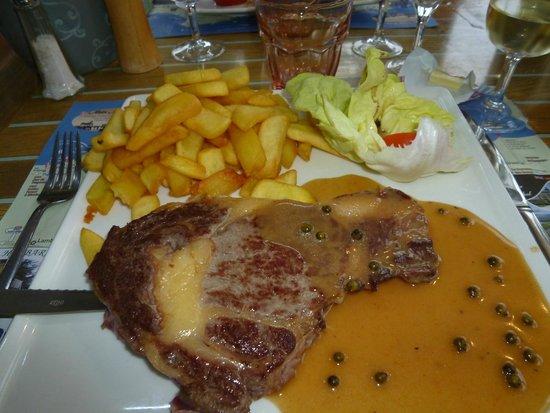 La Potiniere - Sables d'or Pins : Steak