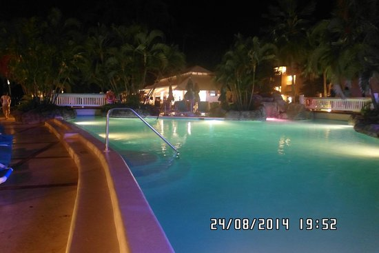 Turtle Beach by Elegant Hotels: Night Time (one of the pools)