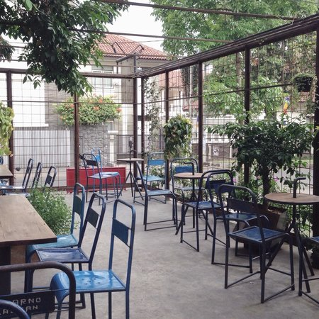 outdoor smoking area picture of blue doors bandung tripadvisor