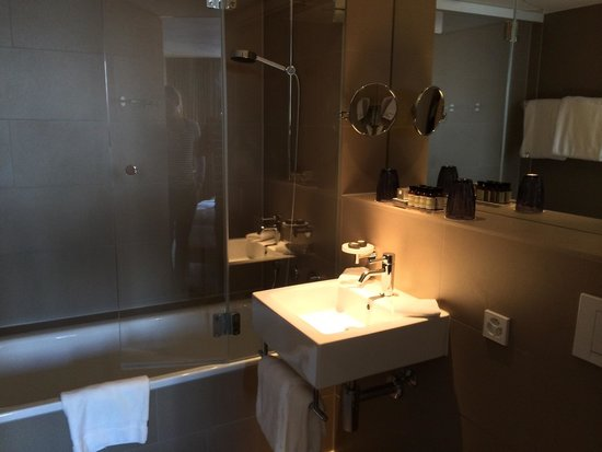 Pullman Basel Europe Hotel: Great bathroom!
