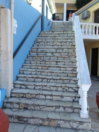 Zante Royal Resort: You can't go anywhere without stairs, stairs, stairs everywhere