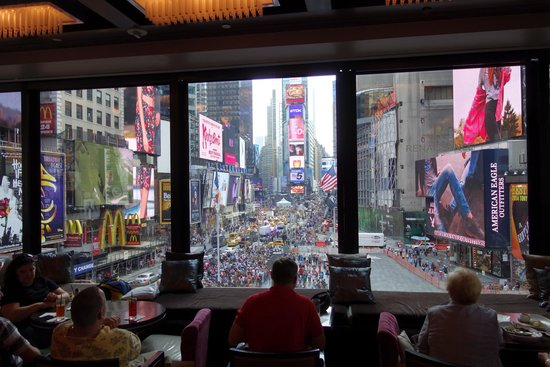 R Lounge at Two Times Square: looking to Times Square