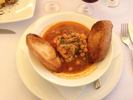 Ristorante Paradiso Perduto: The amazing Monkfish with Chickpea soup