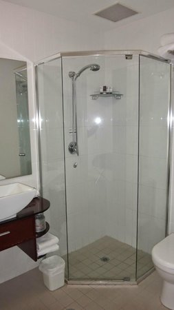 Adabco Boutique Hotel : Bathroom (a bit small but OK for one person)