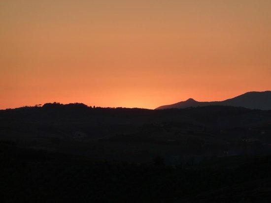 Podere Benintendi: Sunset in Tuscany - view from Pondere Benintendi (Certaldo)