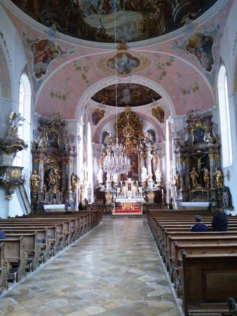 Oberammergau Church : l'interno, bellissimo!