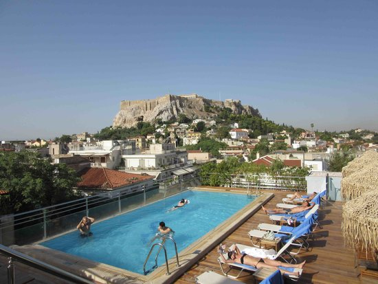 Electra Palace Athens: Acropolis from rooftop Restaurant - day