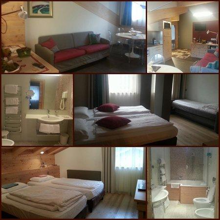 Hotel Antares: Apartment suite 542 del corpo A. Unico neo è la mancanza del balcone ma a noi piace ugualmente