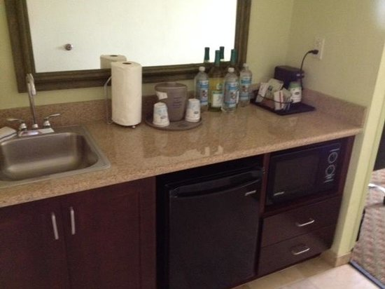 Hampton Inn & Suites Orlando - South Lake Buena Vista: wet bar type area