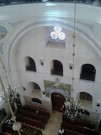 Hurva Synagogue : The west wall