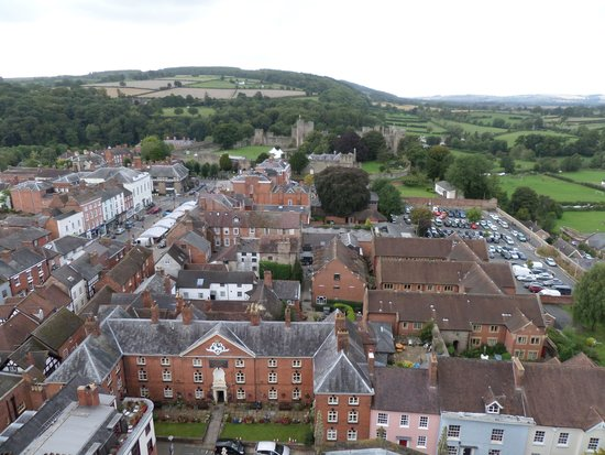 Parish Church of St Laurence: View from the top of tower