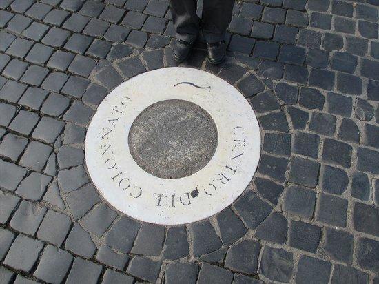 Petersplatz (Piazza San Pietro): 広場内のこの場所に立つと