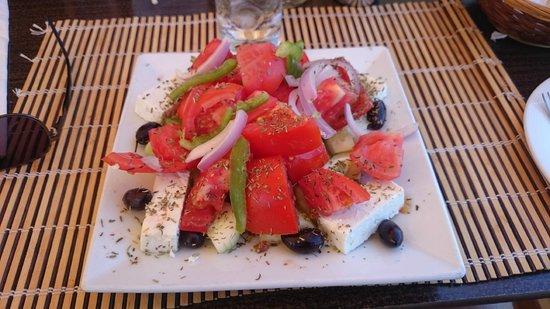 Santa Marina Plaza: Greek salad from the pool bar