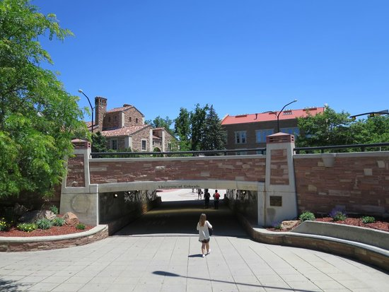 University of Colorado at Boulder : An Entrance to the Campus