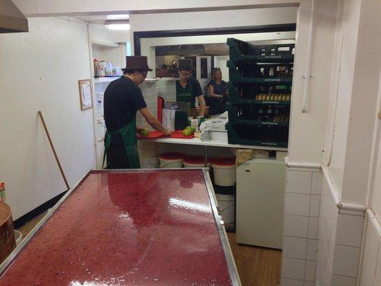 Fudge Kitchen: Eton Mess Fudge being made