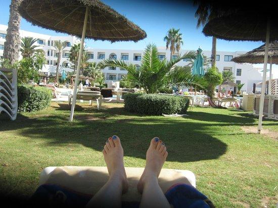 Vincci Nozha Beach Resort : Gazon Piscine