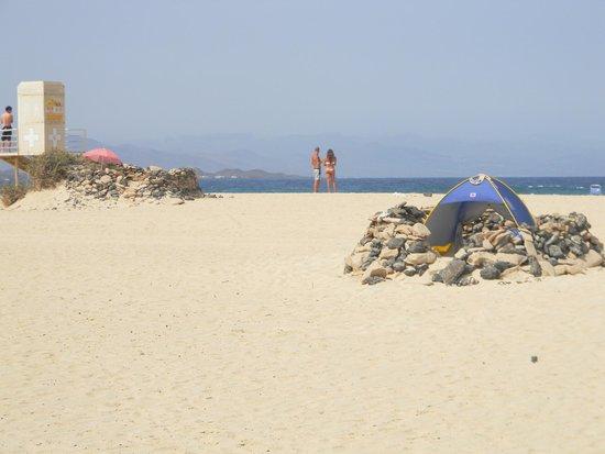 Parque Natural de Corralejo: sun shelters a good idea