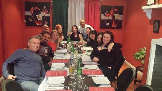Bella Tiarnie Italian Restaurant & Gourmet Pizzas: Part of our group and Leonardo