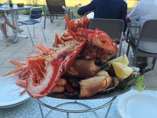 Grand Hotel des Dunes: Plateau de fruits de mer excellent!!
