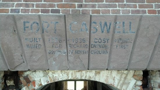 Fort Caswell: This plakard is above the entrance to I believe the World War II fort