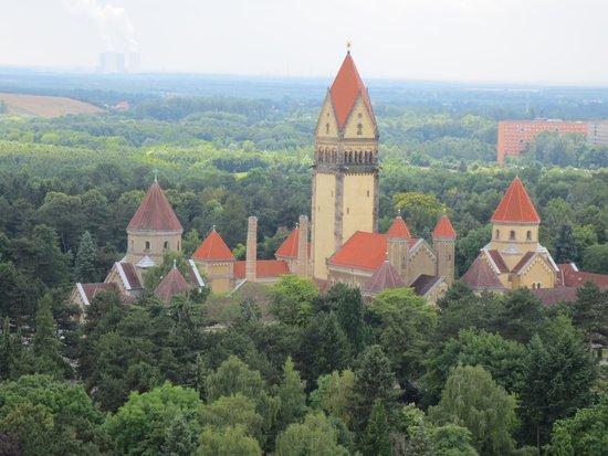 """Völkerschlachtdenkmal: Aussicht von """"mittlerer Ebene"""""""