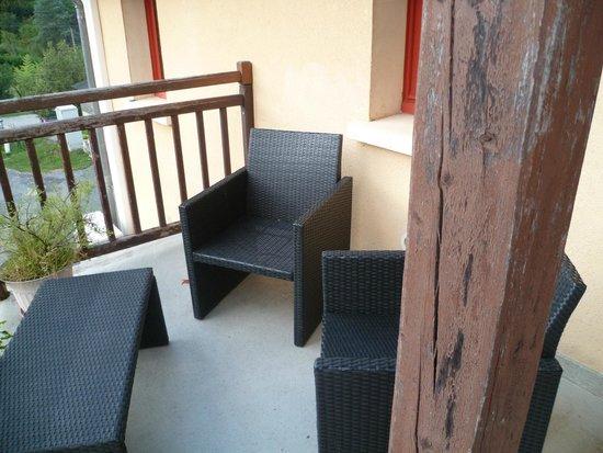 La Verperie: terrasse chambre