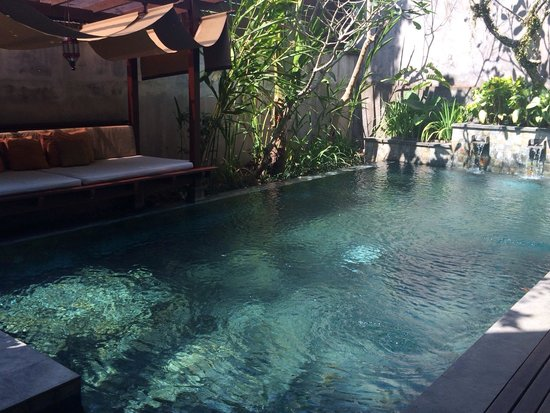 Gending Kedis Villas & Spa Estate: Our private pool villa and day bed