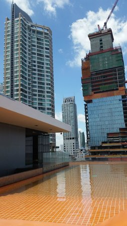 The Heritage Bangkok: The view from the pool area