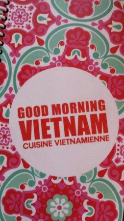 Good Morning Vietnam: ansicht speisekarte