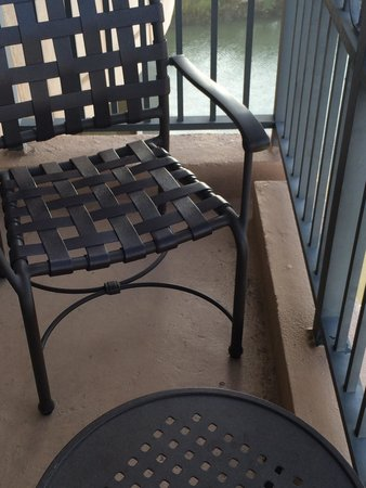 Westin Savannah Harbor Golf Resort & Spa: On the balcony of 1205 you will find 2 chairs and 1 table