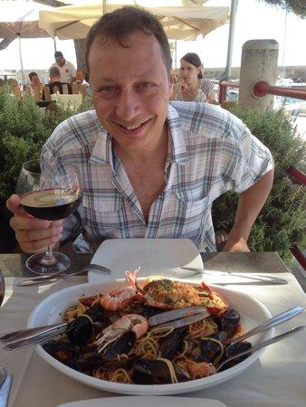 Osteria Del Porto: Les spaghetti aux fruits de mer!!!! Excellent!!!!