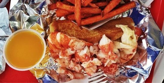 Red's Eats : Lobster roll and sweet potato fries.  Don't forget the butter!