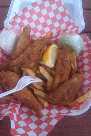 Country Chip Wagon: Perch dinner
