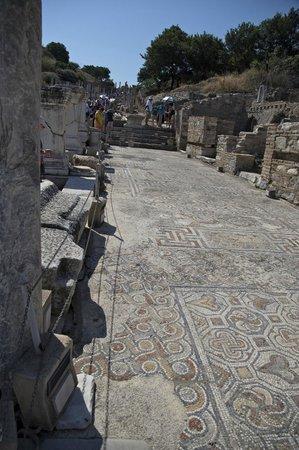 Antigua ciudad de Efeso: Mosiac floors in Ephesus.