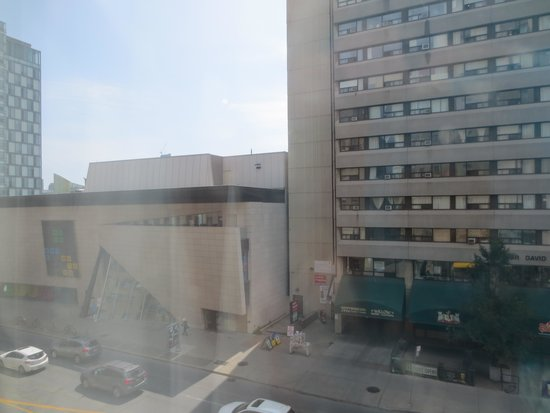 Holiday Inn Toronto Bloor Yorkville: you can see the Bata Shoe Museum here