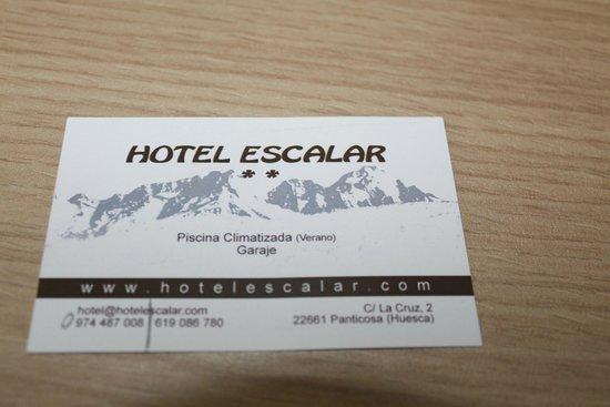 Hotel Escalar : datos de contacto